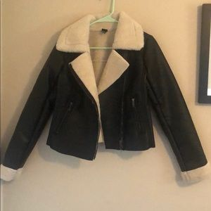 Wild Fable Faux Leather Aviator Jacket